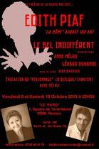 Le Bel Indifférent et Récital E. Piaf avec Anne Mélou et Gérard Bohanne