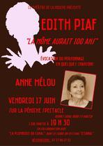 Récital Edith Piaf avec Anne Mélou